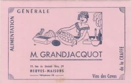 BUVARD - BLOTTER - Alimentation Generale M. GRANDJACQUOT -  NEUVES MAISONS - Buvards, Protège-cahiers Illustrés