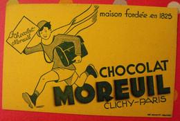 Buvard Chocolat Moreuil Clichy Paris. Vers 1950 - Cocoa & Chocolat