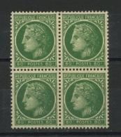FRANCE -  MARIANNE DE MAZELIN - N° Yvert 675** BLOC DE 4 - 1945-47 Cérès De Mazelin