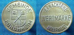 03381 GETTONE TOKEN JETON SWIMMING POOL WERTMARKE ERWACHSENE HALLENBAD GEMEINDE FORCHHEIM - Zonder Classificatie