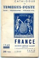 CATALOGUE  FRANCE ARTHUR MAURY 1948 - France
