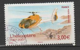 FRANCE  ,N°70 CENTENAIRE DE L'HÉLICOPTÈRE - 1960-.... Matasellados