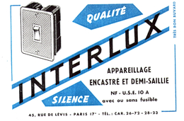 A A I/Buvard   Appareil Interlux (N= 1) - Buvards, Protège-cahiers Illustrés
