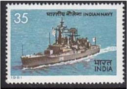 India 1981, Ship, Transport, Defence, Navy, Militaria  MNH **   (lot -  22 - 012) - India