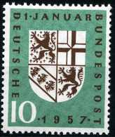 BRD - Mi 249 - ** Postfrisch (C) - 10Pf       Eingliederung Des Saarlandes - Unused Stamps
