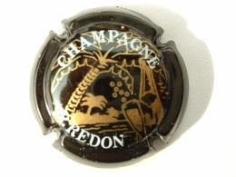 CAPSULES DE CHAMPAGNE -  P.REDON - NOIR DESSIN OR - Champagne