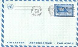 Lettres Enveloppes  Aérogramme   Nations - Unies  - Etats - Unis   (New York  )   Par Avion - Amérique Centrale