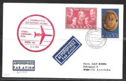 Greece First Flight Athen-Dubrovnik-Vienna 5.4.1964 - Greece