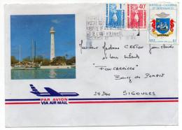 NOUVELLE-CALEDONIE--1986-Lettre De NOUMEA Pour SIGOULES-24-Jolis Tps-enveloppe Illustrée PHARE - Briefe U. Dokumente
