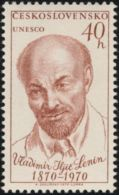 "Czechoslovakia / Stamps (1970) 1810: Vladimir Ilyich Ulyanov ""Lenin"" (1870-1924) UNESCO; Painter: Karel Svolinsky"
