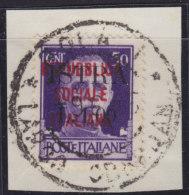 "5119. Italy Yugoslavia Istria - Pula 1945 Italian Stamp With ""ISTRA"" Overprint, Cutting - Used (o) Michel 4 - Occup. Iugoslava: Istria"