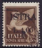 "5125. Italy Yugoslavia Istria - Pula 1945 Italian Stamp With ""ISTRA"" Overprint, Used (o) Michel 14 - Occup. Iugoslava: Istria"