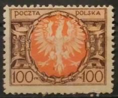 POLONIA 1921 -1922 Eagle On Large Shield. NUEVO SIN GOMA (*) - 1919-1939 República