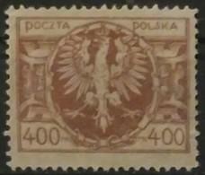 POLONIA 1923. Eagle On Large Shield. NUEVO SIN GOMA (*) ALGO ADELGAZAZO. - 1919-1939 República