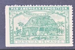 PAN-AMERICAN  EXPO. VIGNETTE   1901  BUFFALO, N.Y.    *  HAWAII - Universal Expositions