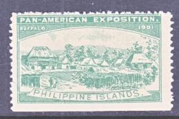 PAN-AMERICAN  EXPO. VIGNETTE   1901  BUFFALO, N.Y.    *  PHILIPPINE  ISL. - Universal Expositions