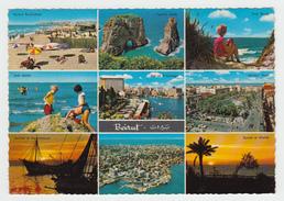 Greetings From Beirut Beyrouth Lebanon Liban - Written In Arab - Multiview - Écrite En Arabe - 2 Scans - Lebanon