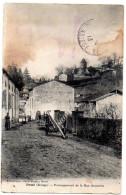 CPA 1913 ANIMEE PRAT PROLONGEMENT DE LA RUE SOUVIELLE - France
