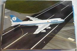 AIRLINE ISSUE / CARTE COMPAGNIE      SABENA   B 747 100 - 1946-....: Modern Era