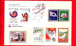 Cartolina Non Viaggiata - Esperanto - Postkarto - Francobolli - Espero - 1988 Olimpiadi Di Seul - Esperanto