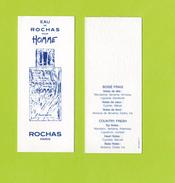 Cartes Parfumées Carte EAU  De  ROCHAS  Pour HOMME - Modern (from 1961)