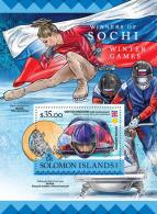 SOLOMON ISLANDS 2016 ** Sochi Winter Games Winner Gewinner Gagnant S/S - OFFICIAL ISSUE - A1637 - Winter 2014: Sotschi