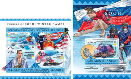 SOLOMON ISLANDS 2016 ** Sochi Winter Games Winner Gewinner Gagnant M/S+S/S - OFFICIAL ISSUE - A1637 - Winter 2014: Sotschi
