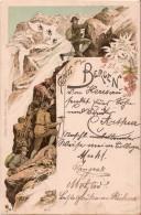 (alpinisme) Gruss Aus Den Bergen. Carte Lithographiée 1897. - Alpinisme