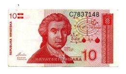 Croazia - 1991 - Banconota Da 10 Dinari - Usata - (FDC757) - Croatia