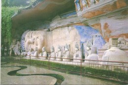 China Postal Stationary 1989 - Dazu Stone Carvings - Buddhism