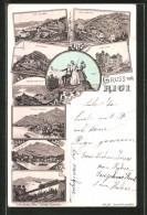 Vorläufer-Lithographie Rigi, 1894, Hotels Auf Dem Rigi-Kulm, Rigi-Klösterli, Rigi-Kaltbad - SZ Schwyz