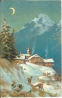 Robert Kämmerer : Village De Montagne, Lithographie 1900. - Illustrateurs & Photographes