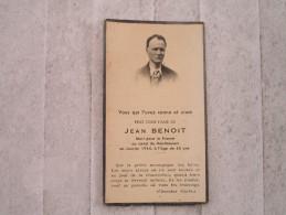 Jean BENOIT Mort Pour La France Au Camp De Mauthausen à L´age De 45 Ans - 1939-45