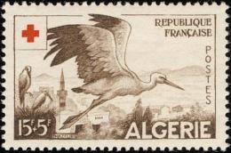Algérie. Algeria 1957 . Cigogne. White Stork. ** - Cicogne & Ciconiformi