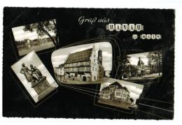 12989 Cpa Gruss Aus HANAU A. Main : Superbe Carte Photo Multivues  , 1958 , - Hanau