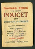 """CATALOGUE  EDOUARD  BERCK  """" POUCET """"  DE  1948  DANS  L ETAT , A  VOIR . - France"""