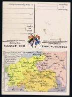 France: Correspondence Des Armées  Franchise Carte Vosges Alsace + Front Oriental