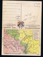France: Correspondence Des Armées  Franchise Carte De Front Et De Souain A Verdun