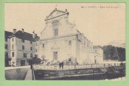 ANNECY : Eglise Saint François, Hôtel De Savoie. 2 Scans. Edition ER - Annecy