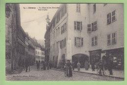 ANNECY : La Rue Et Les Arcades Ste Claire. Vue Peu Courante. 2 Scans. Edition Pariot - Annecy