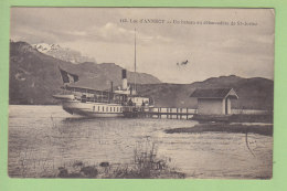 SAINT JORIOZ, Lac D'Annecy : Un Bateau Au Débarcadère. 2 Scans. Edition Pariot - Autres Communes