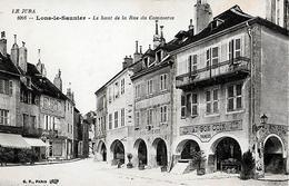 CARTE POSTALE ORIGINALE ANCIENNE : LONS LE SAUNIER ; LE HAUT DE LA RUE DU COMMERCE ; JURA (39) - Lons Le Saunier
