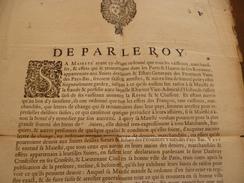 Affiche Placard 2 Xa3 De Par Le Roy 28/04/1657 Canton D'Aubray Saisie Des Navires Hollandais En Représailles Historique! - Décrets & Lois