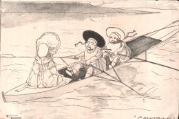 CANOTAGE ILLUSTRATION EDITION E. P. CARTE PRECURSEUR PAS CIRCULEE - 1900-1949