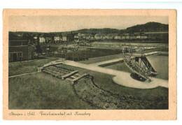 13011   Cpa  STRIEGAU I. Schl.  Freischwimmbad Mit Kreuberg - Schlesien