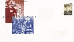 Australia 1998 Legacy Never Forgets - Founder Savige Mint Prestamped Envelope (PSE)