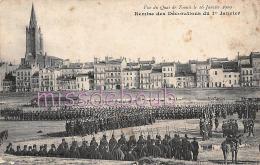 31 - TOULOUSE - Vue Du Quai De Tounis 1909 - Remise De Décoration - Armée Soldats - Dos Vierge  - 2 Scans - Toulouse