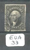 EUA Scott  17 Black YT 8 # - 1847-99 General Issues