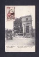 Erinnophilie Journee De La Meuse Verdun On Ne Passe Pas Sur CPA Guerre 14-18 Bibliotheque Militaire Apres Bombardement - Erinnophilie