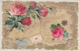 Matériaux - Celluloïd Celluloïde - Carte Porcelaine - Translucide - Découpis Roses - Affection - Cartes Porcelaine